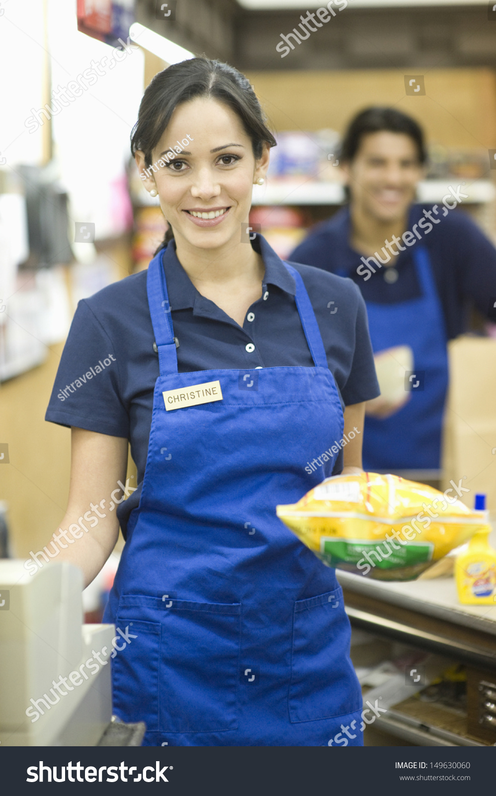 Blue apron workers