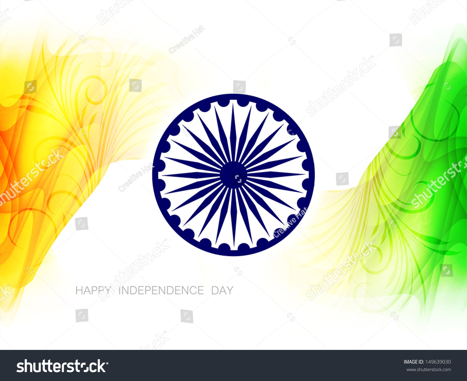 Indian Flag Theme: Beautiful Indian Flag Theme Background Design Stock Vector