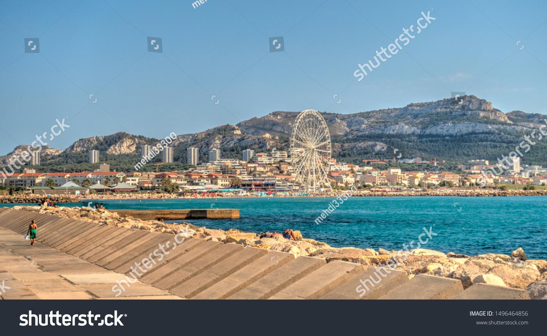 Marseille France August 2019 Prado Beach Stock Photo Edit Now