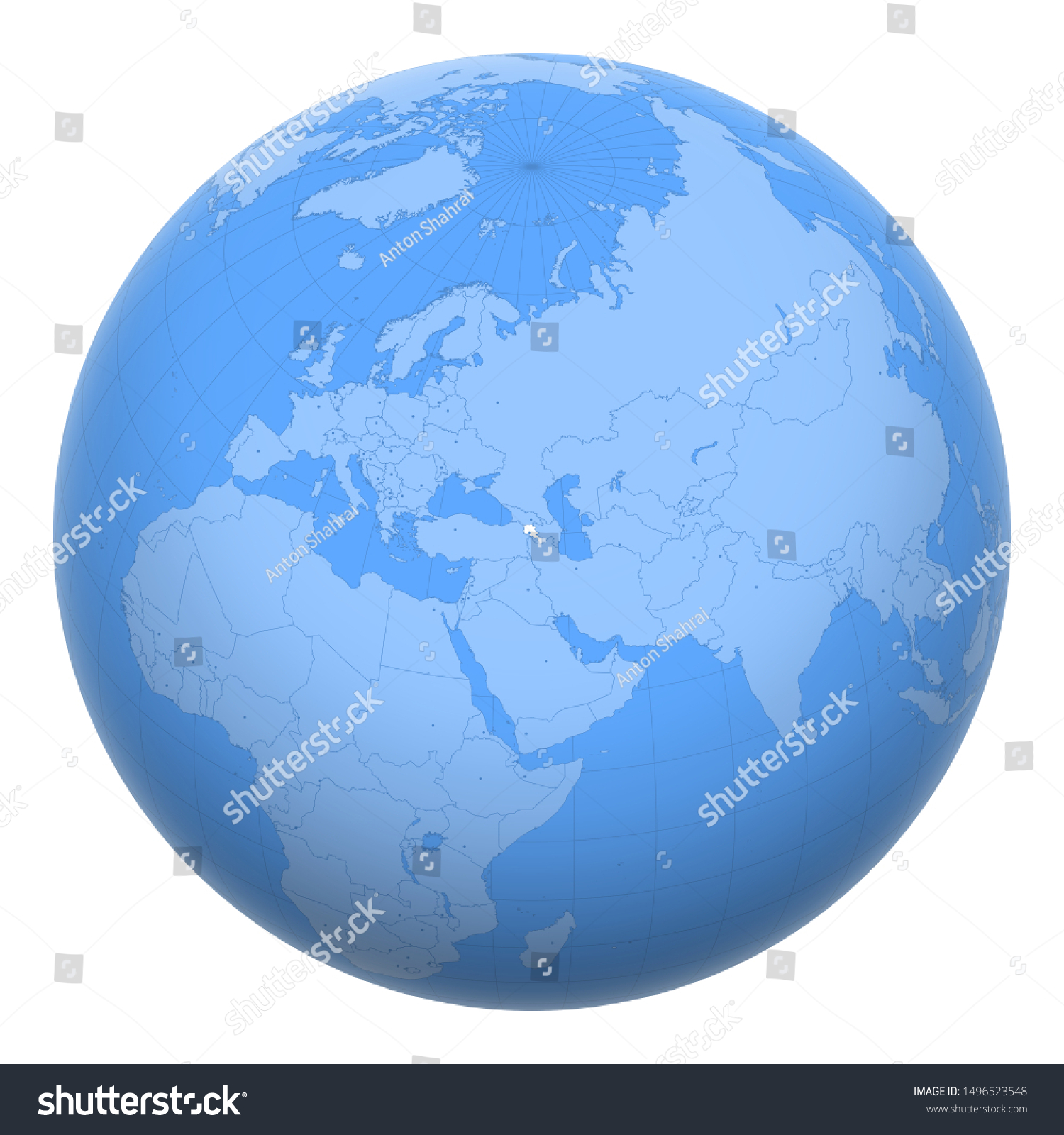 Picture of: Armenia On Globe Earth Centered Location Stock Vector Royalty Free 1496523548