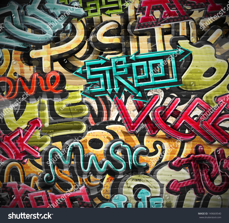 Graffiti Grunge Texture. Eps 10 Stock Vector Illustration