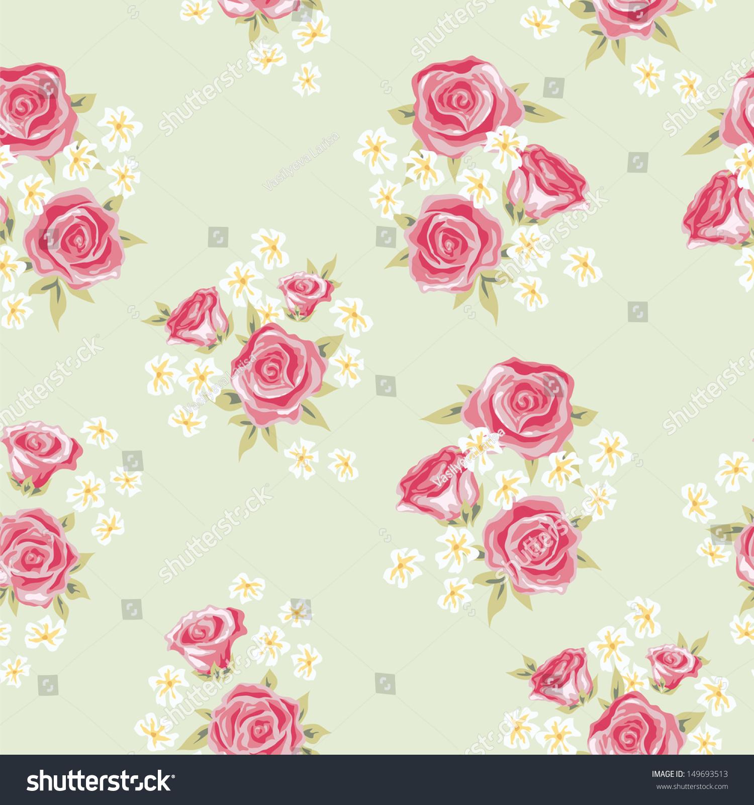 floral seamless vintage pattern shabby chic image vectorielle de
