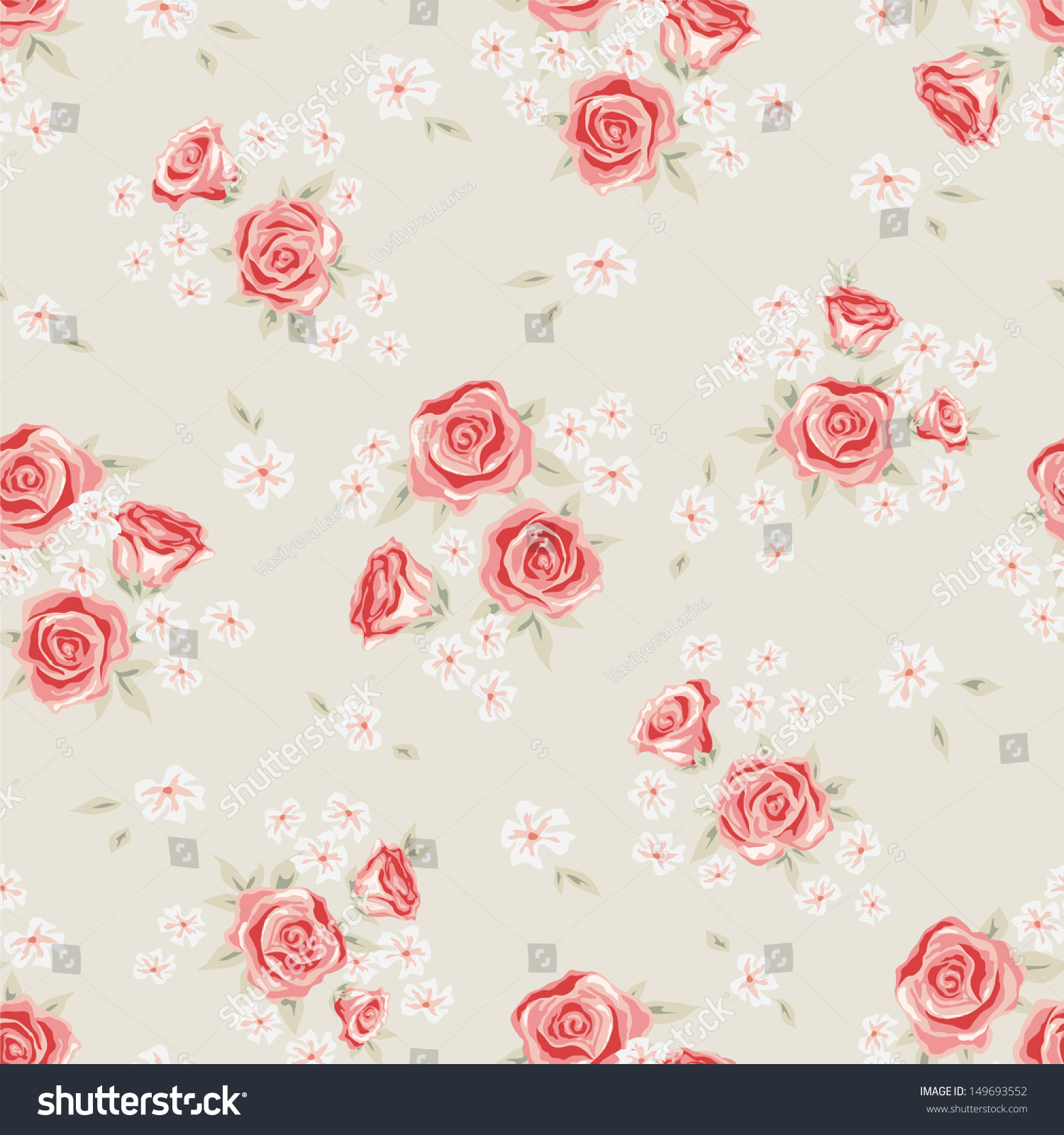 Simple flower pattern background - photo#16