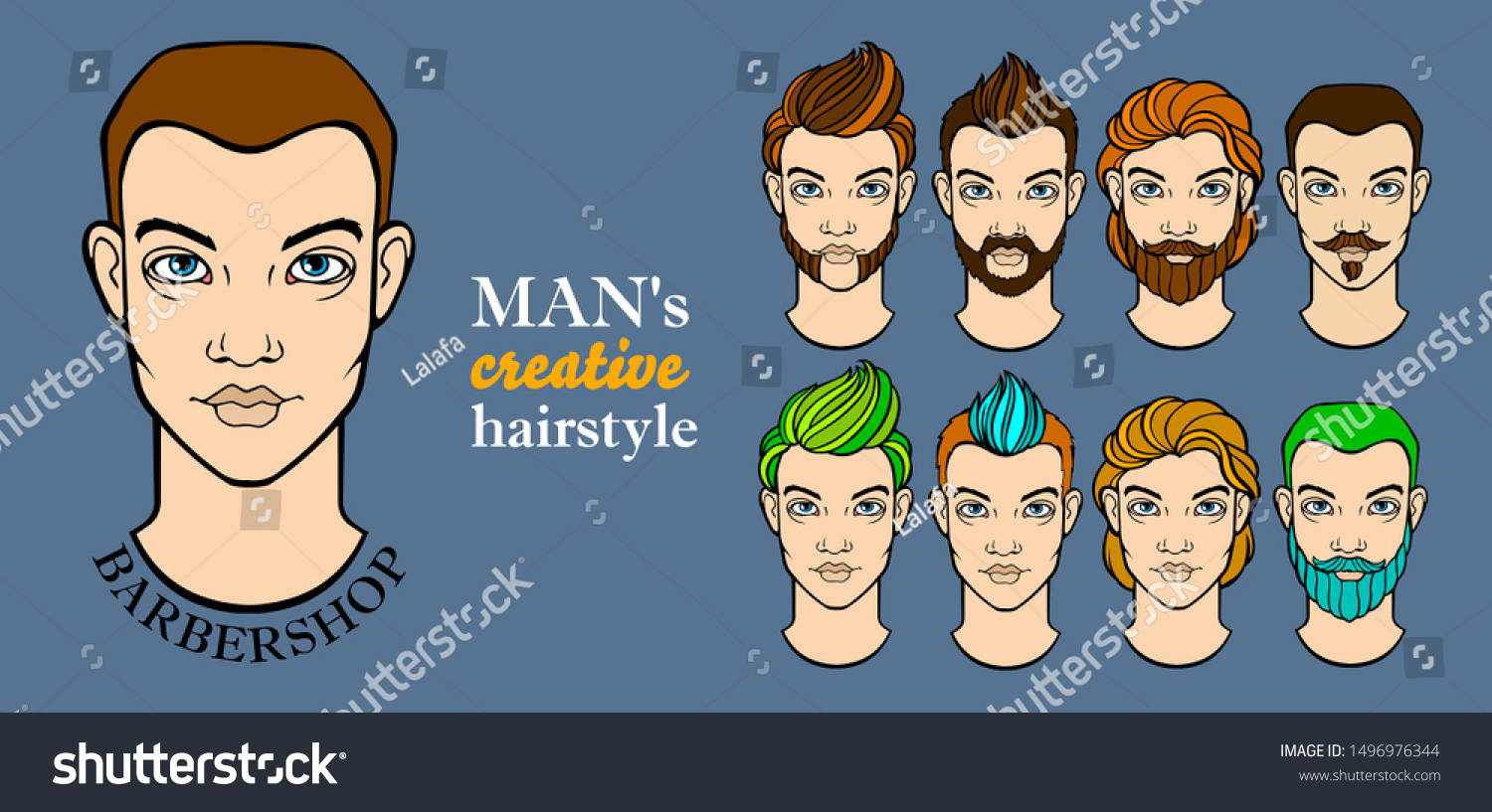 Wondrous Mans Hairstyle Elements Barbershop App Stock Vector Royalty Free Schematic Wiring Diagrams Phreekkolirunnerswayorg