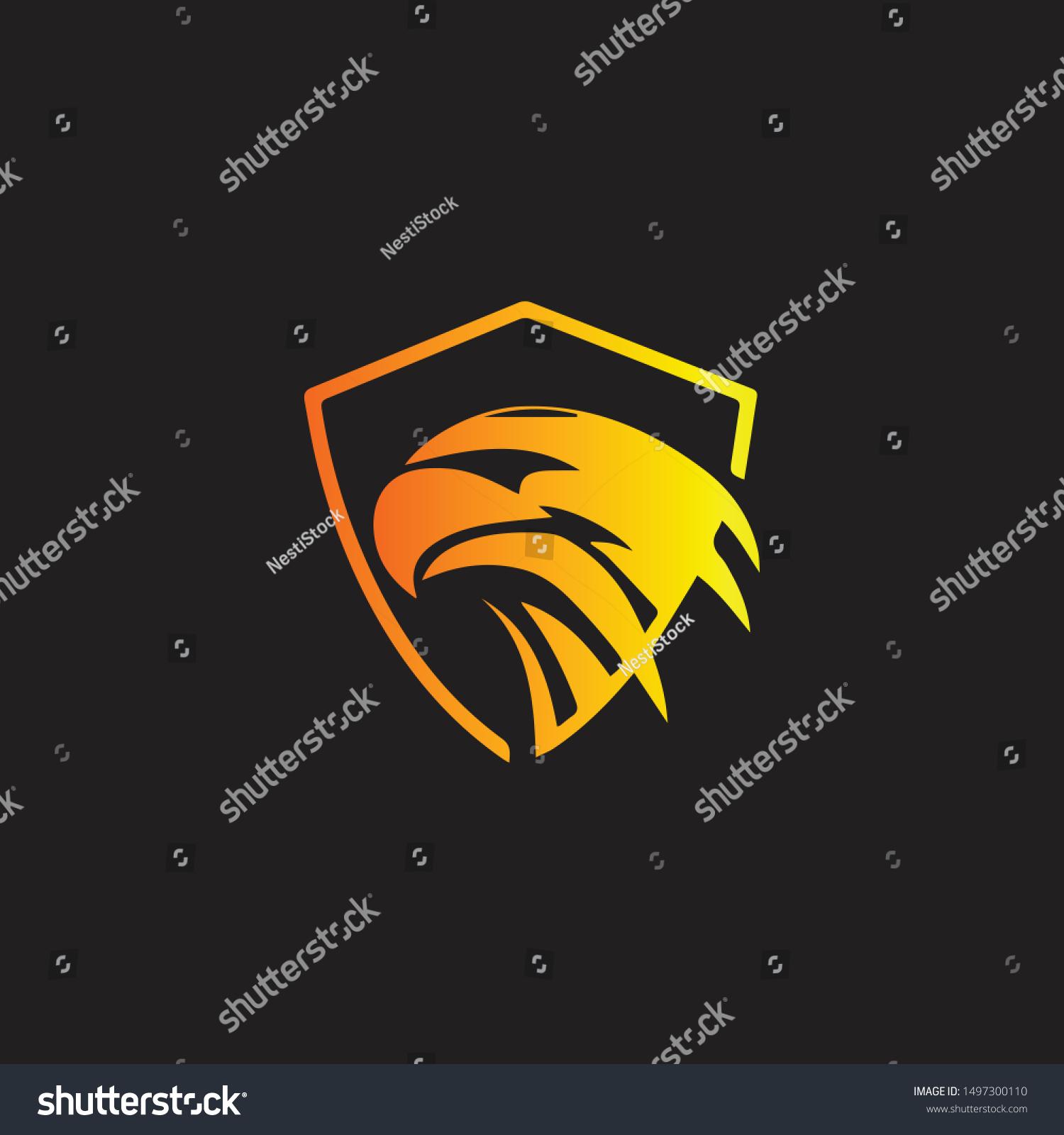 Bird Design Logo Vector Modern Stock Vector (Royalty Free