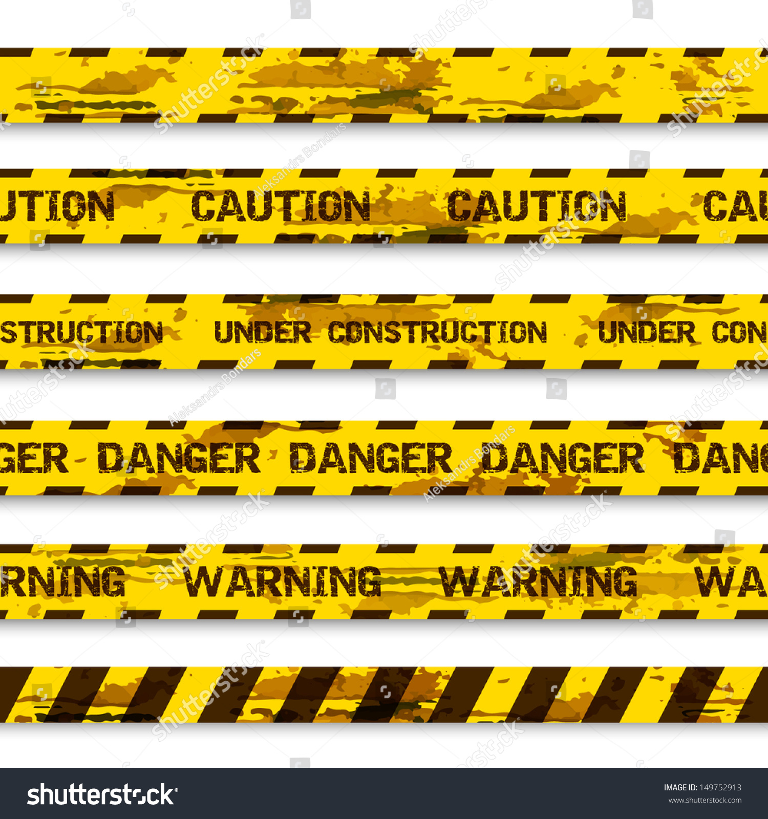 Construction Tape Background