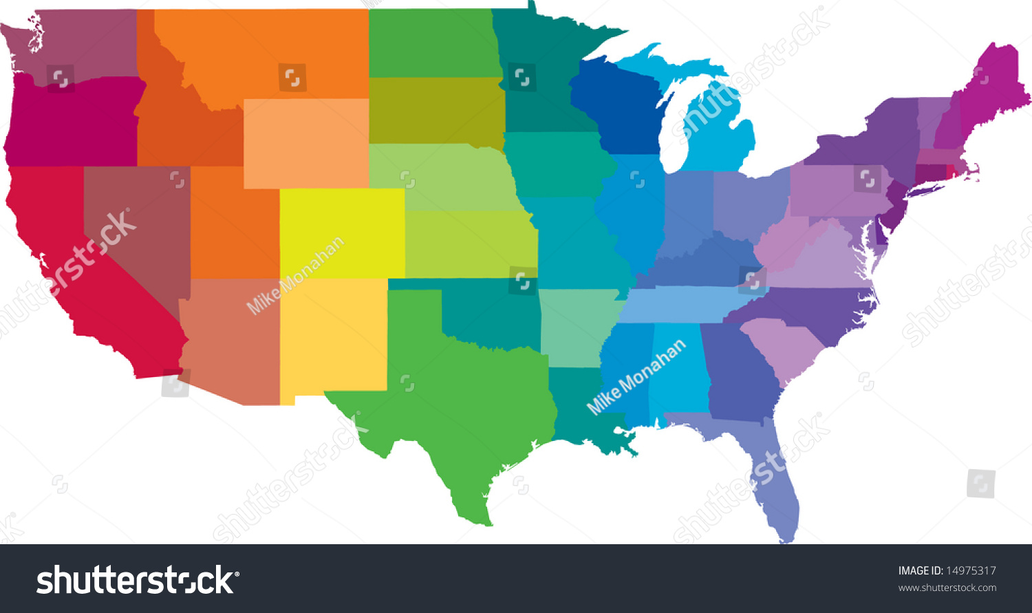 United States America Colors Rainbow Vector Stock Vector (Royalty ...