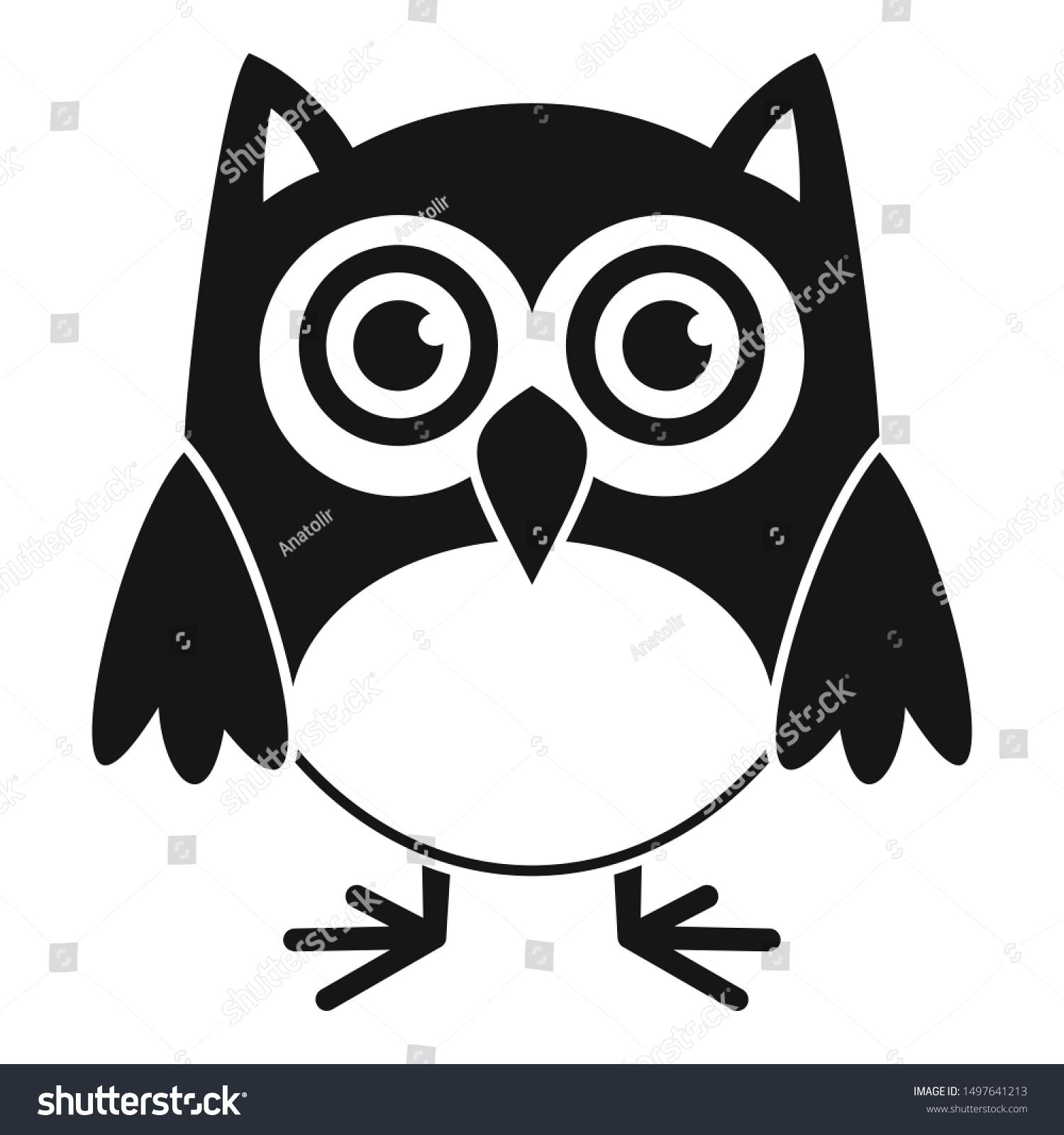 Image Vectorielle De Stock De Nature Owl Icon Simple Illustration