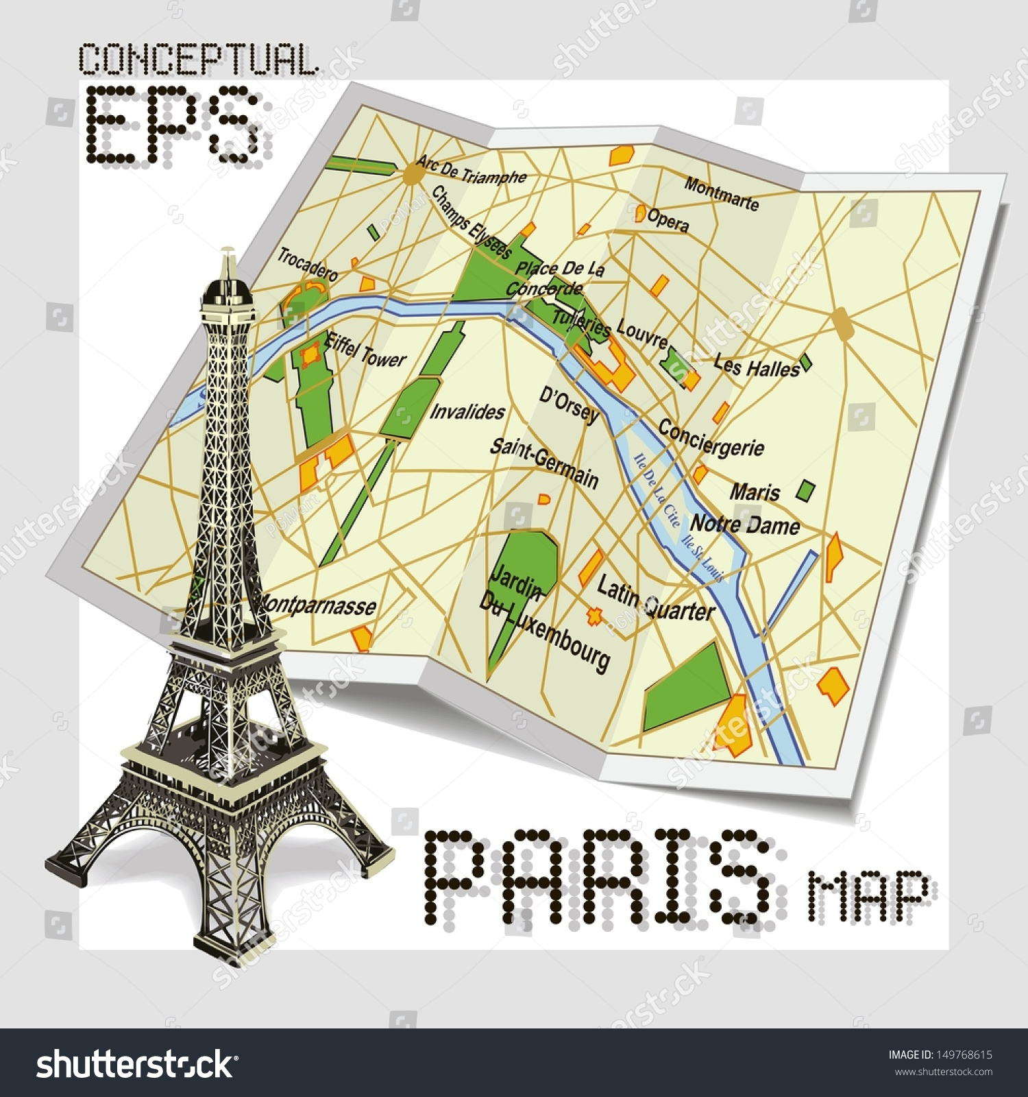Maps Update 21051488 Printable Tourist Map of Paris Paris – Attraction Map of Paris