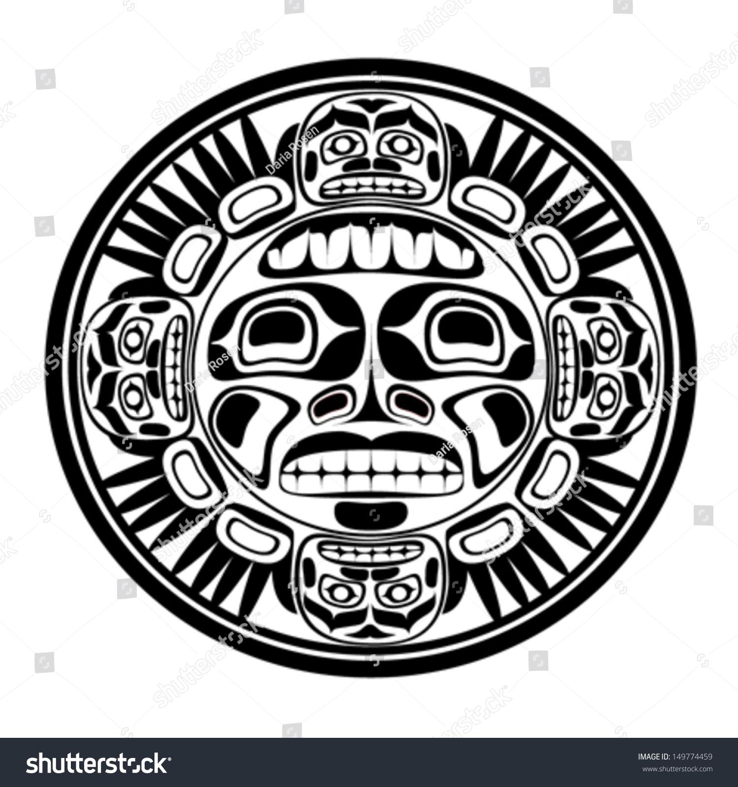 Vector illustration sun symbol modern stylization stock vector vector illustration of the sun symbol modern stylization of north american and canadian native art biocorpaavc Images