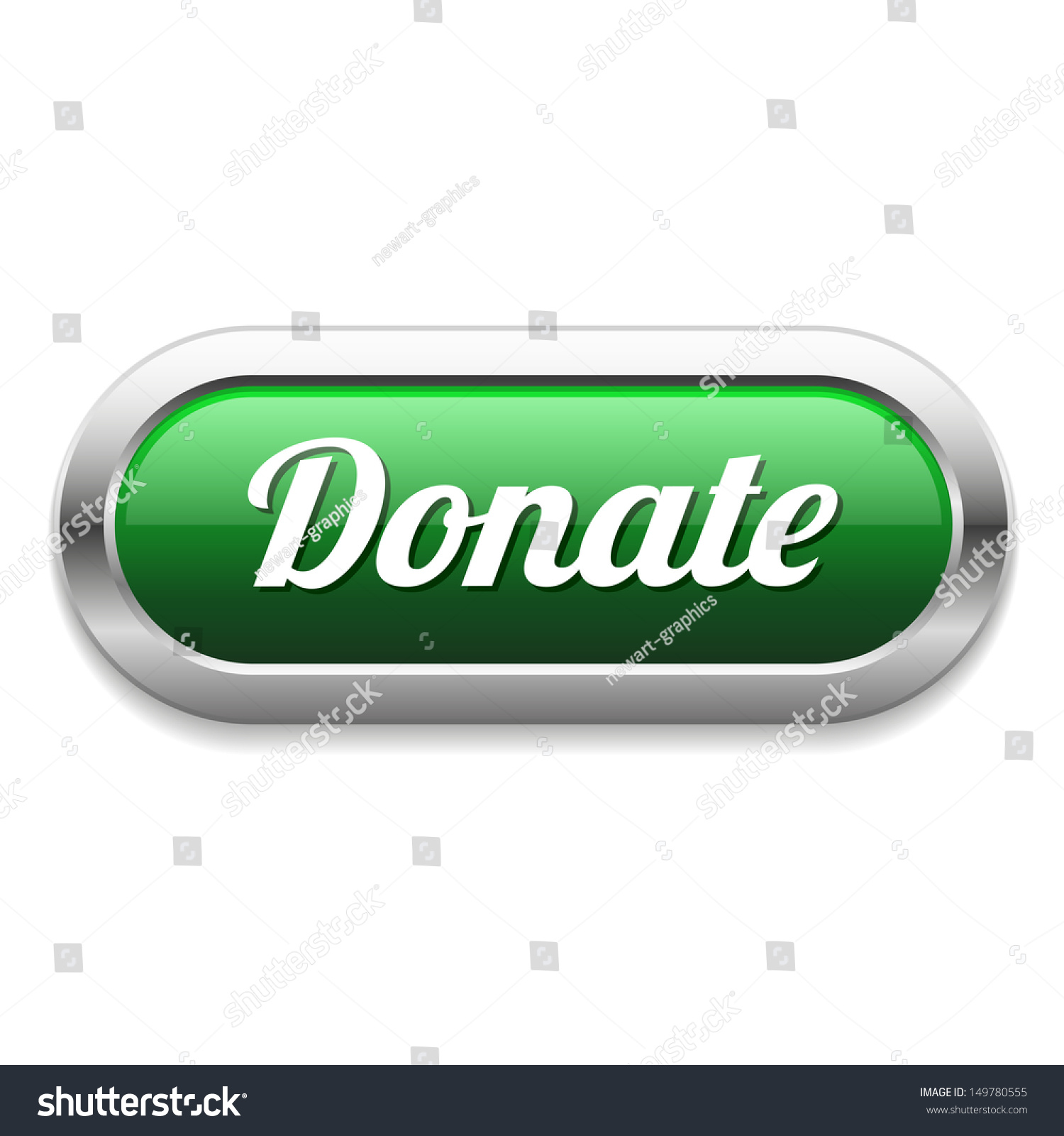 long green donate button stock vector illustration