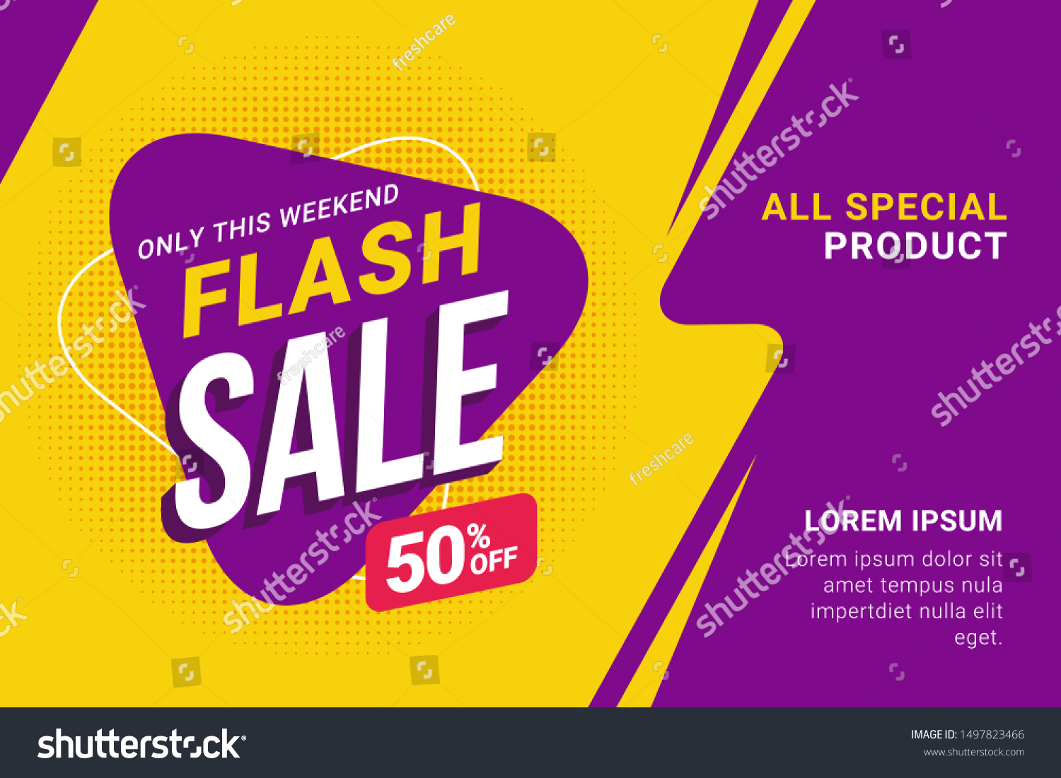 Flash sale discount banner template promotion #1497823466