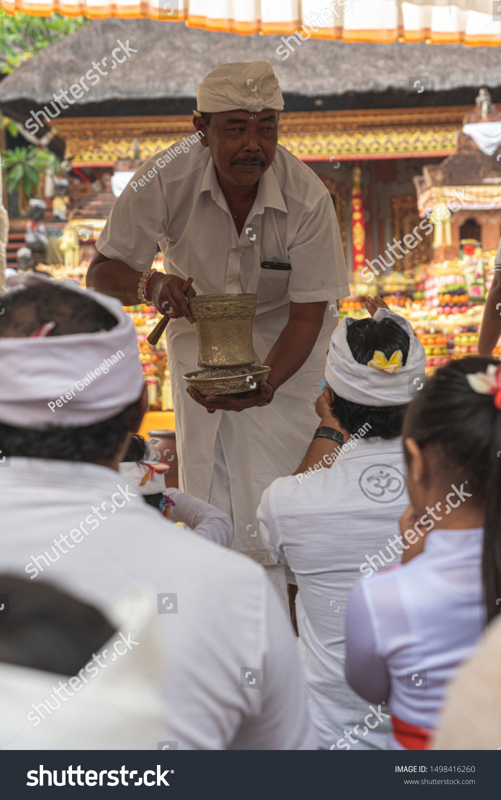 Priest Get Ready Praying Temple Bali Stock Photo Edit Now 1498416260