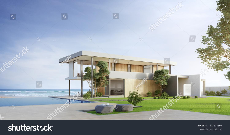 Illustration de stock de Maison de luxe avec piscine avec ...