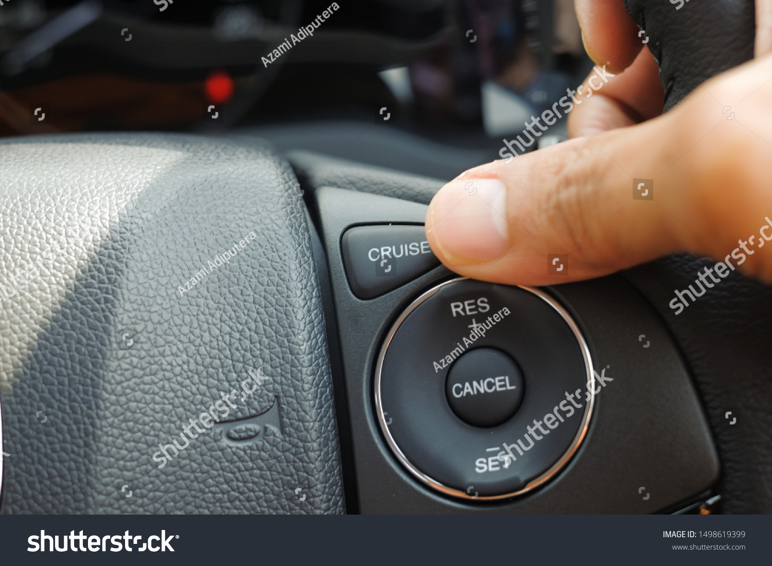 Cruise control buttons on modern car and speed limitation #1498619399
