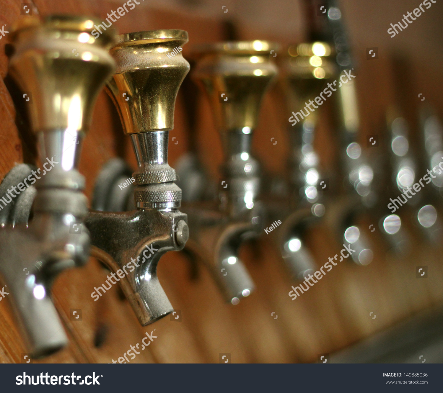 Row Dusty Old Beer Taps Abandoned Stock Photo 149885036 - Shutterstock
