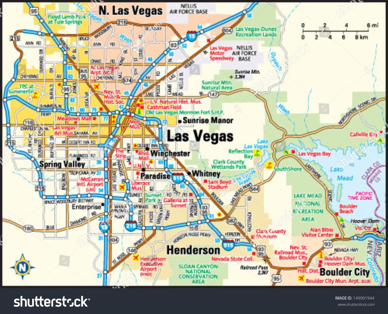 map of las vegas nevada my blog