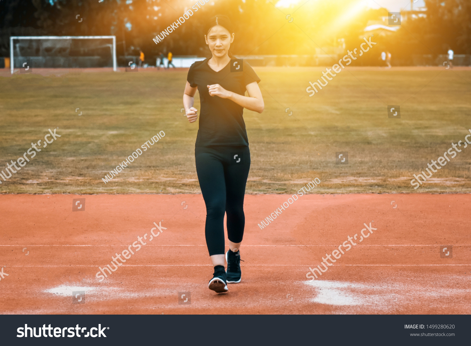 Runner Women Running Jogging Body Fit Stock Photo Edit Now 1499280620 A community where every women, body type & level is supported. shutterstock