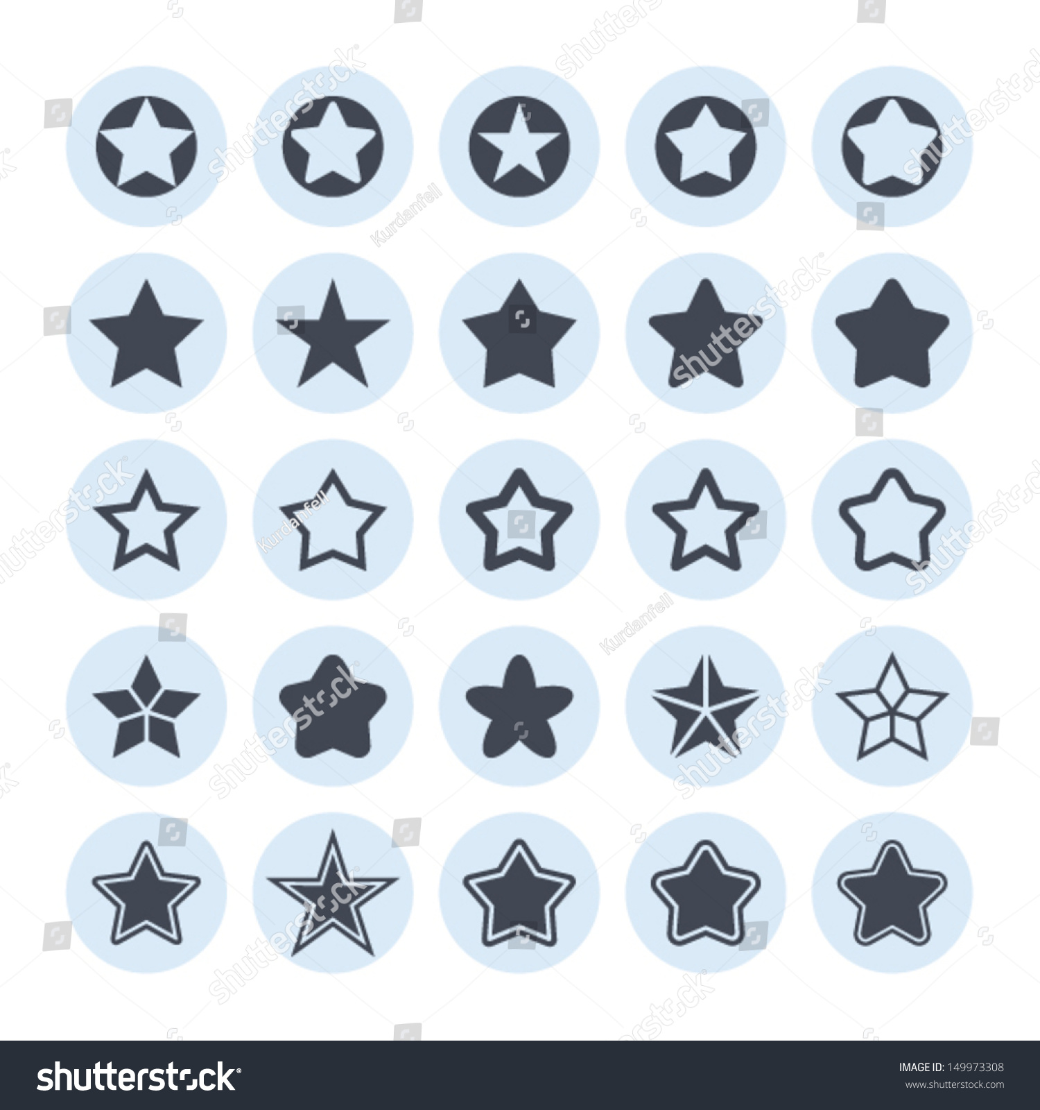 Stock Vector Star Icon
