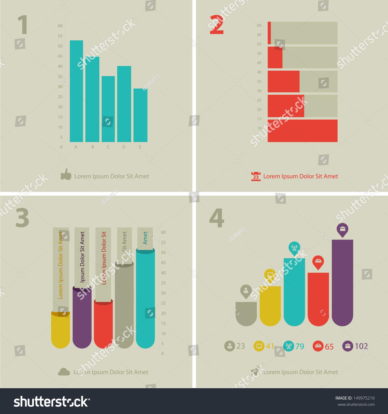 Flat Ui Design Infographic Statistic Chart Stock Vector
