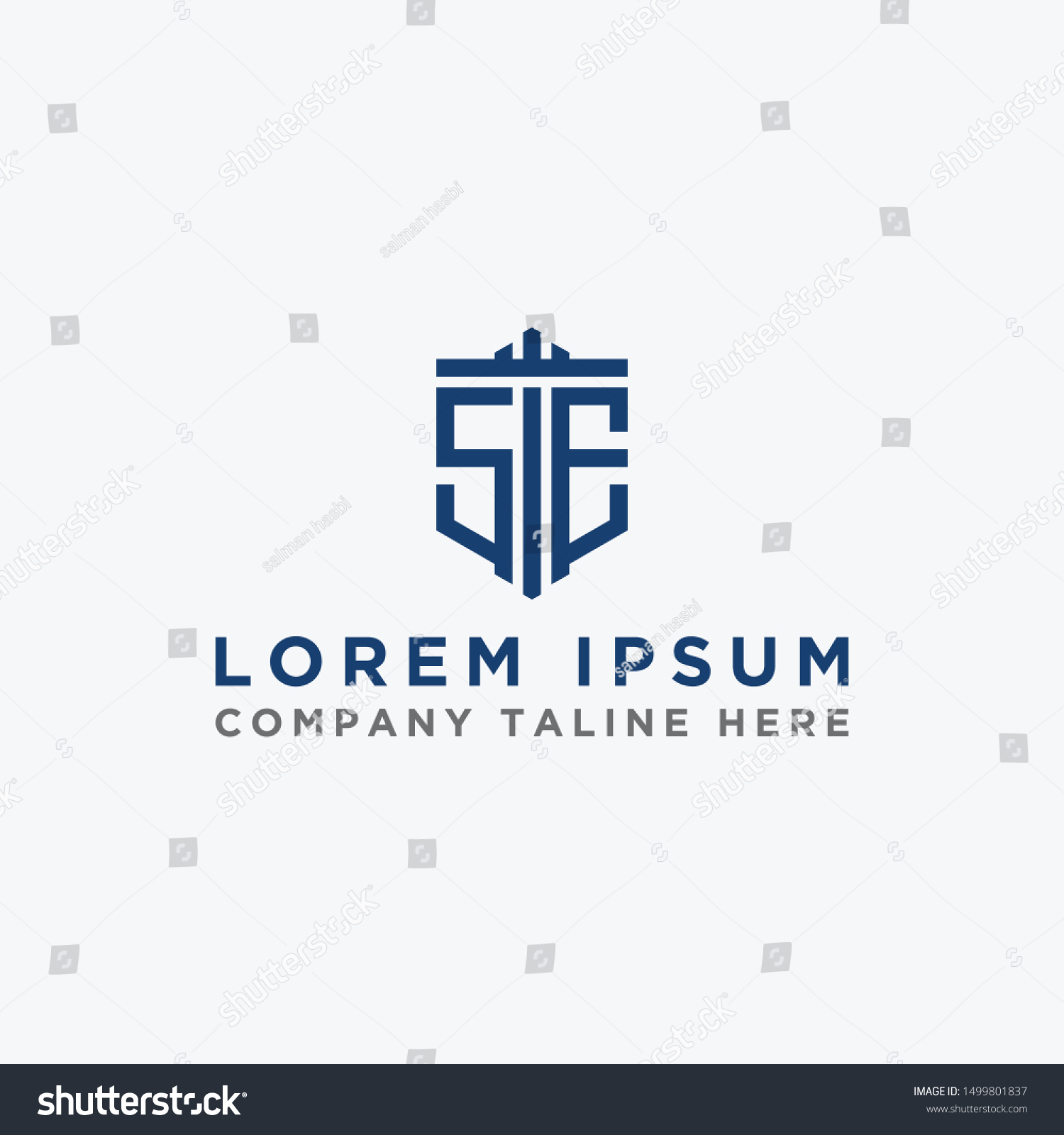 Inspiring Company Logo Designs Initial Letters Stock Vector Royalty Free 1499801837