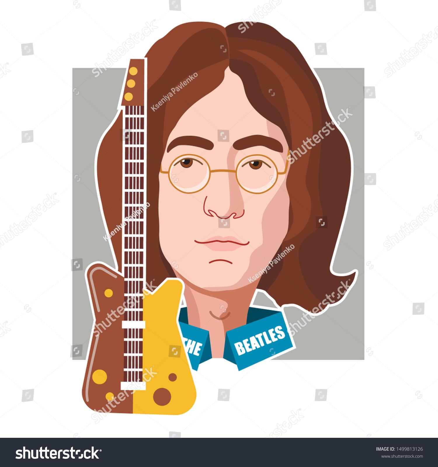 England Liverpool John Lennon October 9 Stock Vector Royalty Free 1499813126