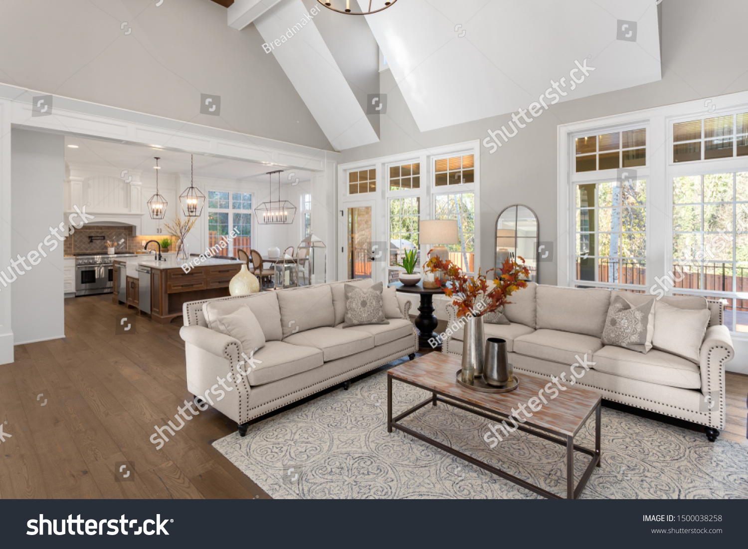 Living Room Kitchen New Traditional Style Stock Photo Edit Now