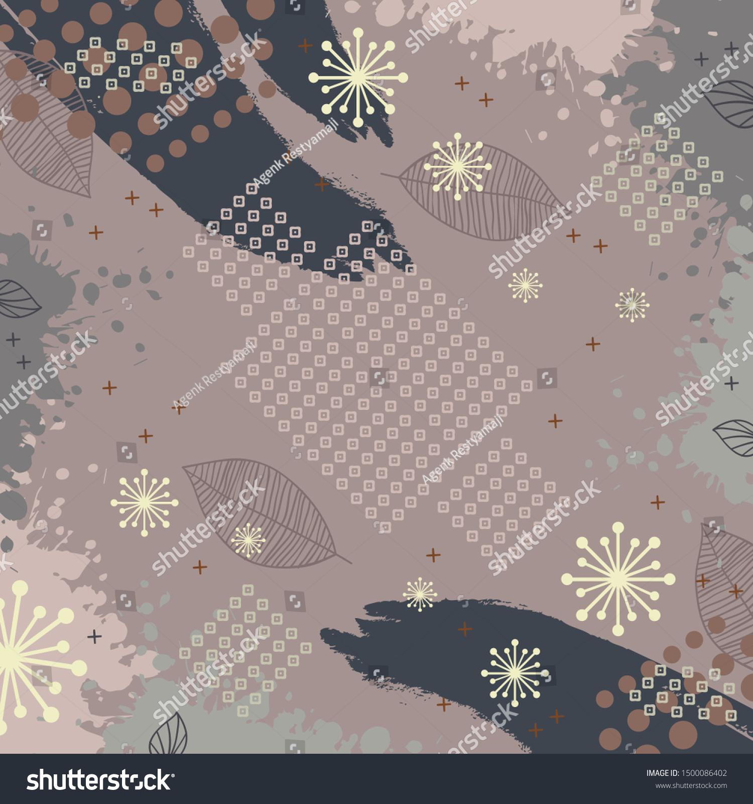 Contemporary Art Design Silk Scarf Hijab Stock Vector (Royalty