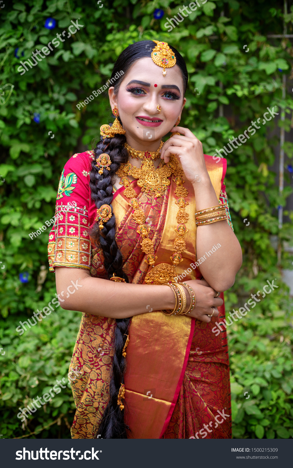 Traditional Young Indian Bride Wedding Dress Stock Photo Edit Now 1500215309,Wedding Dresses 500 And Under