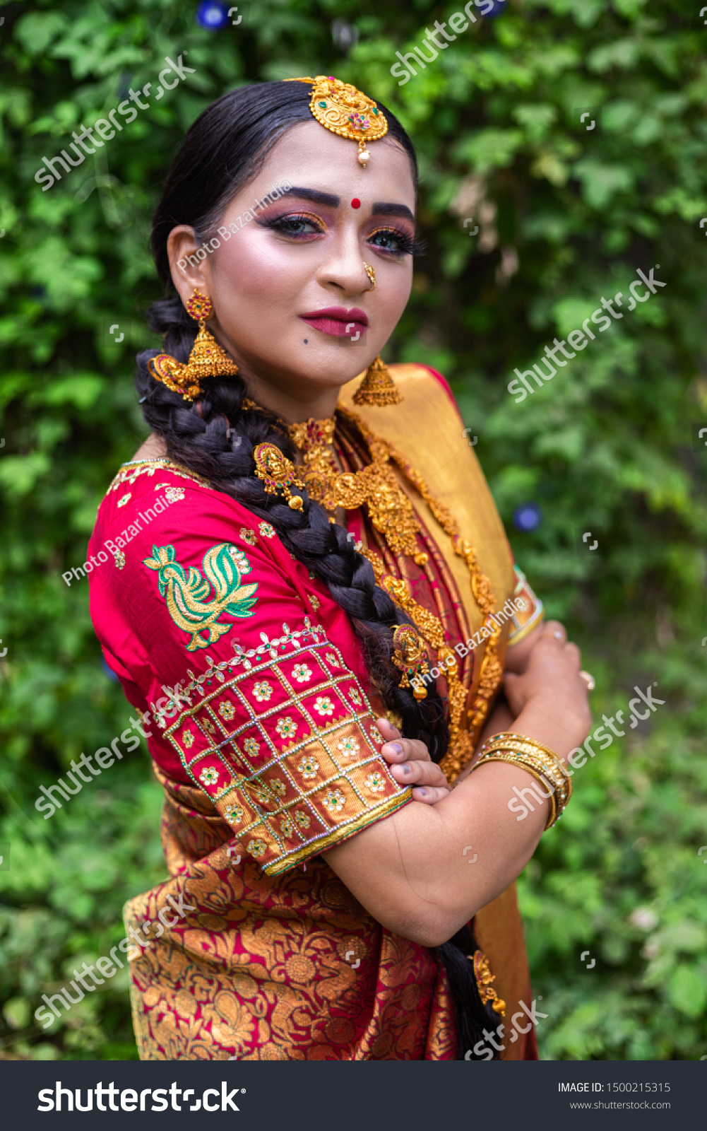 Traditional Young Indian Bride Wedding Dress Stock Photo Edit Now 1500215315,Wedding Dresses 500 And Under