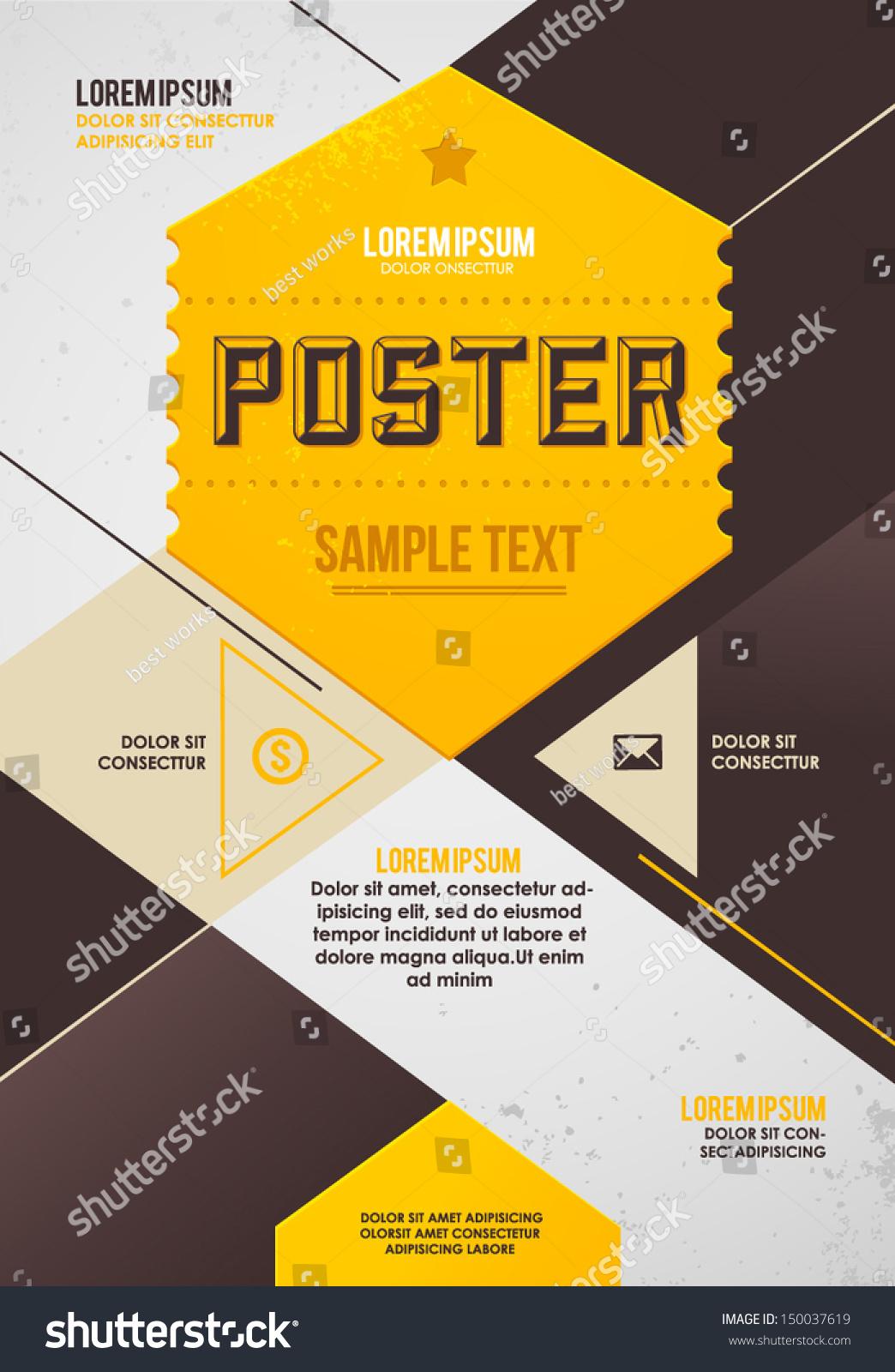 retro poster template stock vector 150037619 shutterstock
