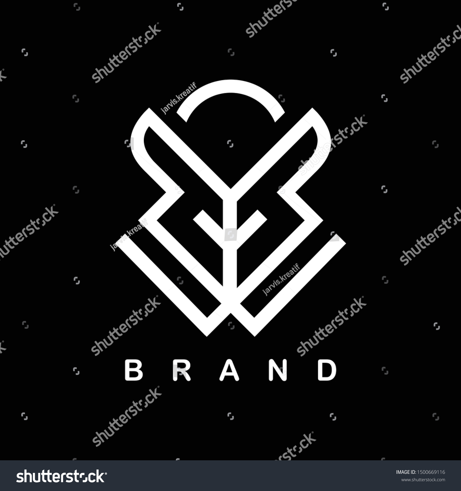 Warrior Samurai Concept Simple Logo Stock Vector Royalty Free 1500669116