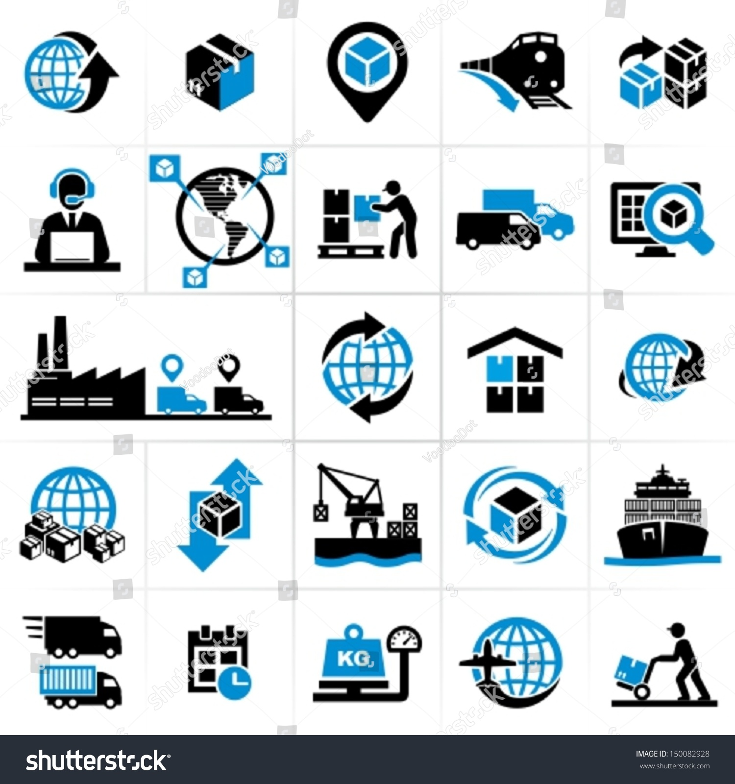 Royalty-free Logistics icons #150082928 Stock Photo ...