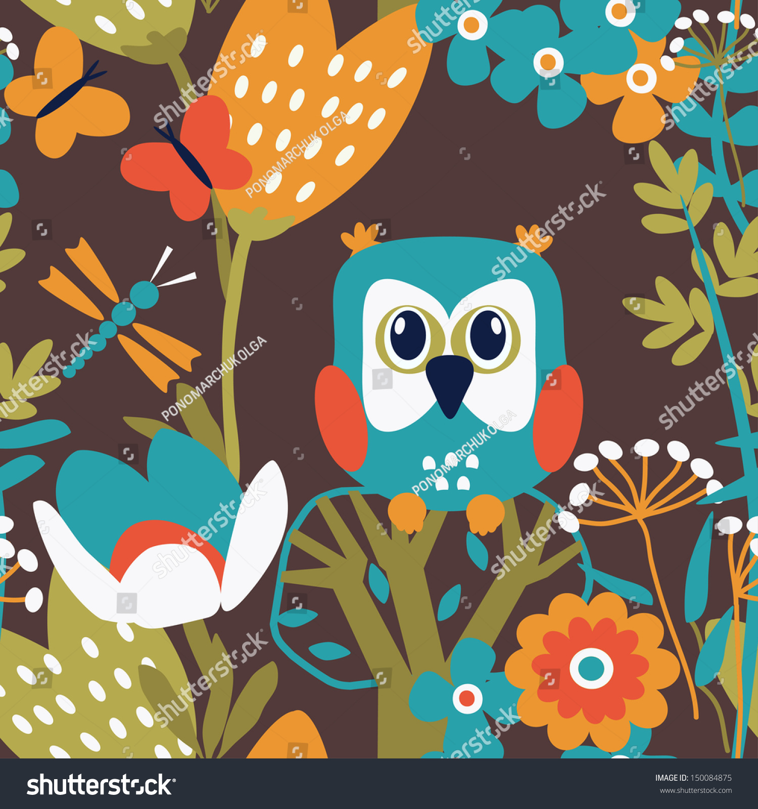 background wallpaper with birds and flowers seamless pattern can