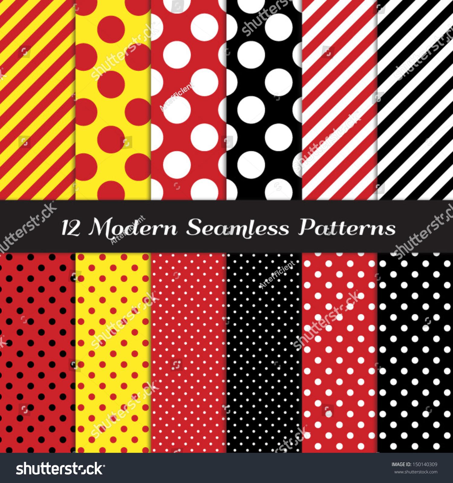 Jumbo polka dots small polka dots stock vector 150140309 for Red and white polka dot pattern