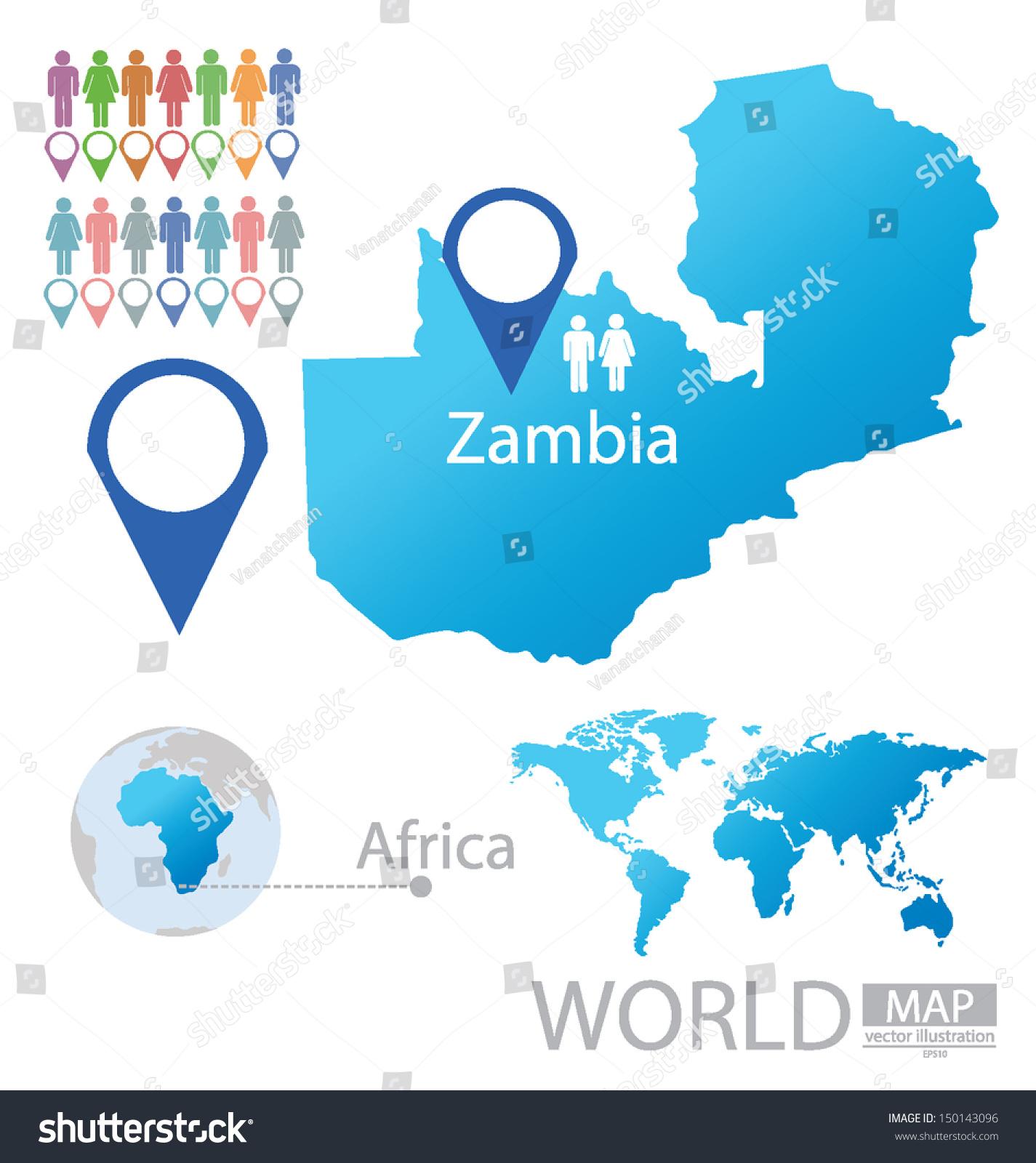 Republic zambia world map vector illustration stock photo photo republic of zambia world map vector illustration gumiabroncs Gallery