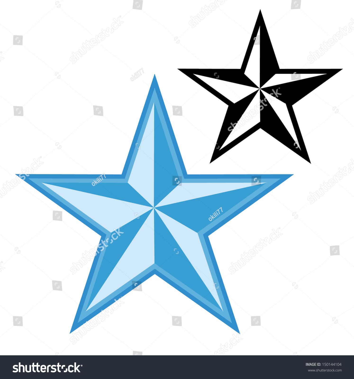 nautical star silhouette vector stock vector 150144104 shutterstock rh shutterstock com