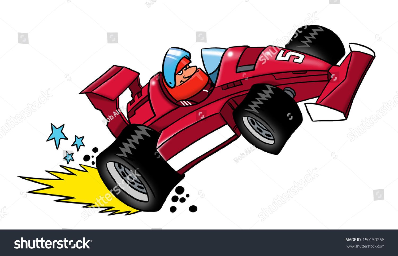 cartoon race car 150150266 shutterstock. Black Bedroom Furniture Sets. Home Design Ideas