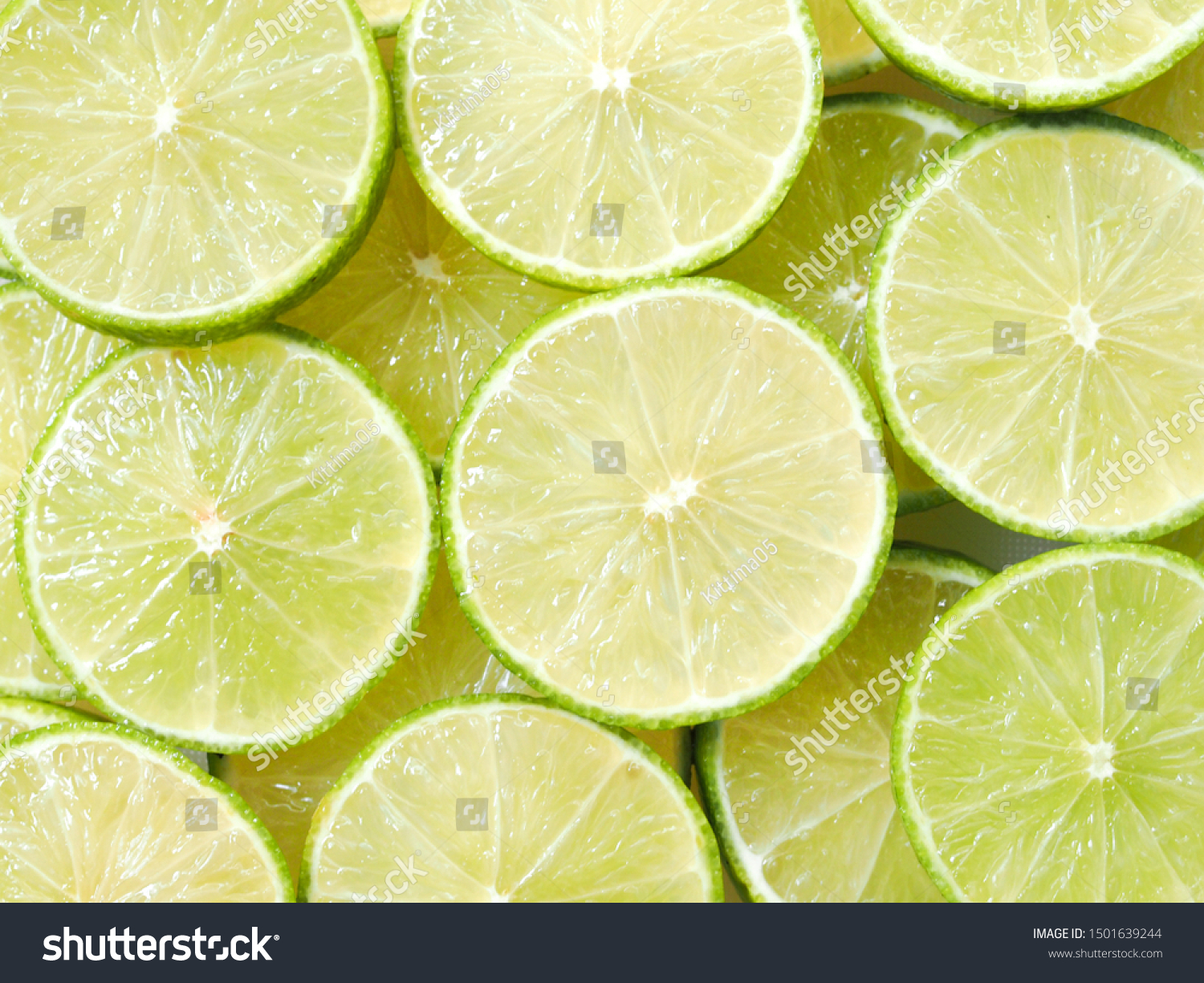 Top View Green Lemon Background Juicy Stock Photo Edit Now