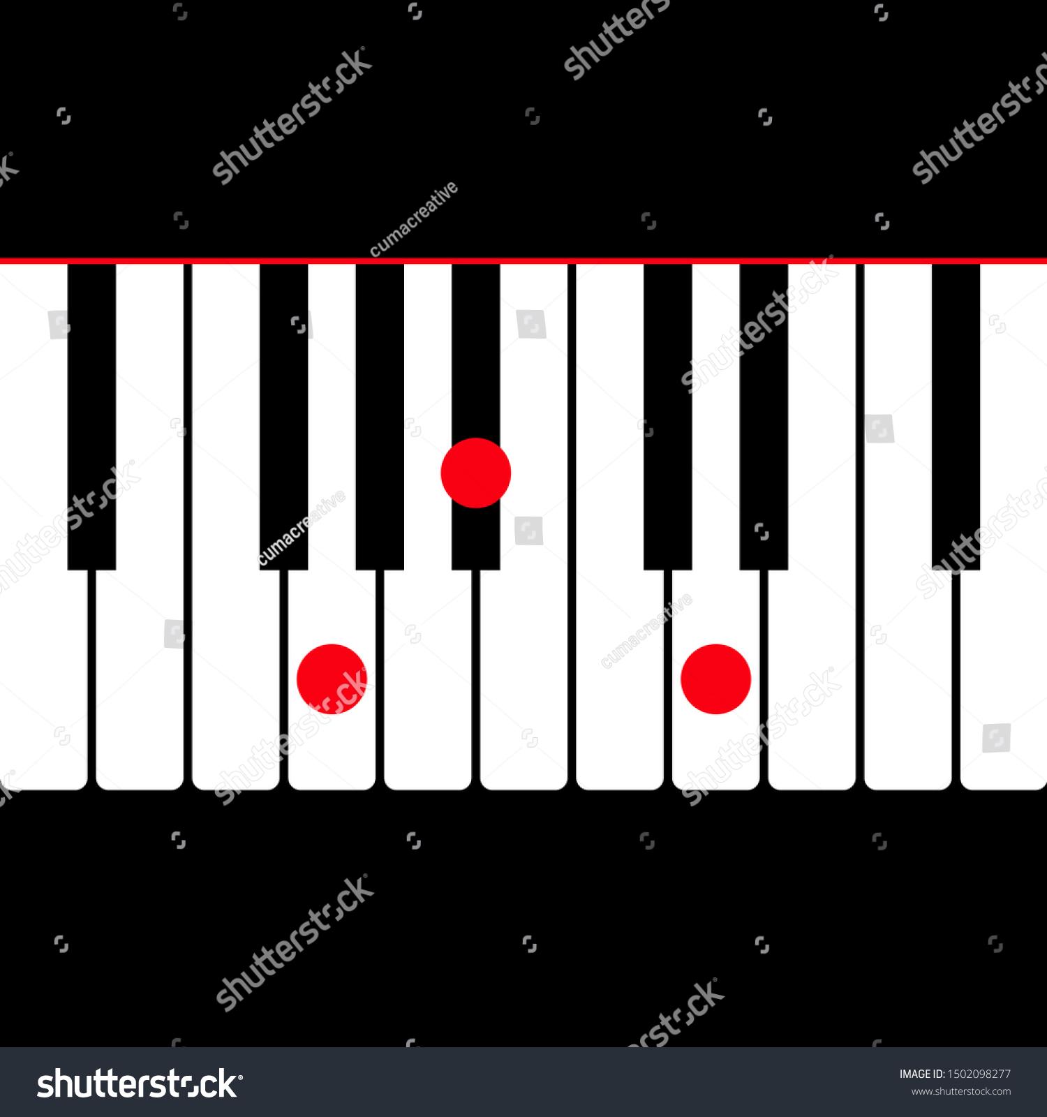 Piano Chord G Minor Gm Shown Stock Vector Royalty Free 15
