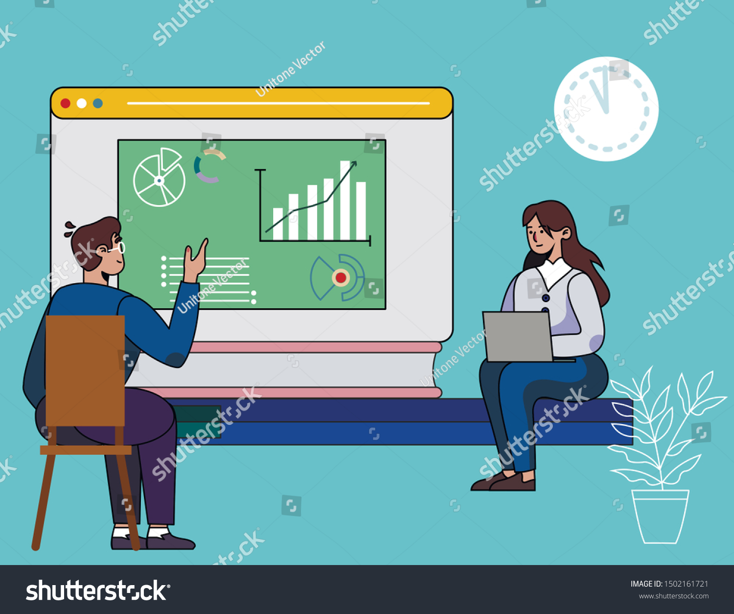 Personal Coaching Lesson Career Enhancement Cartoon Stock Vector Royalty Free 1502161721
