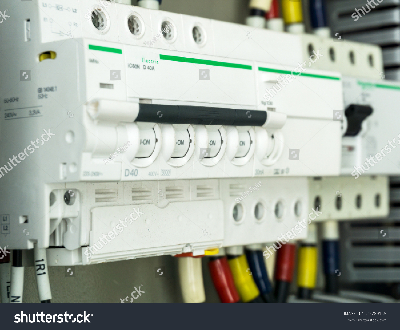 Selective Focus Main Electric Circuit Breakers Stock Photo Edit Now 1502289158