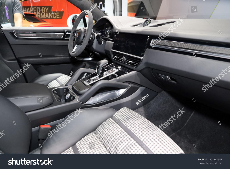Germany Frankfurt 10september 2019 Porsche Cayenne Stock Photo Edit Now 1502347553