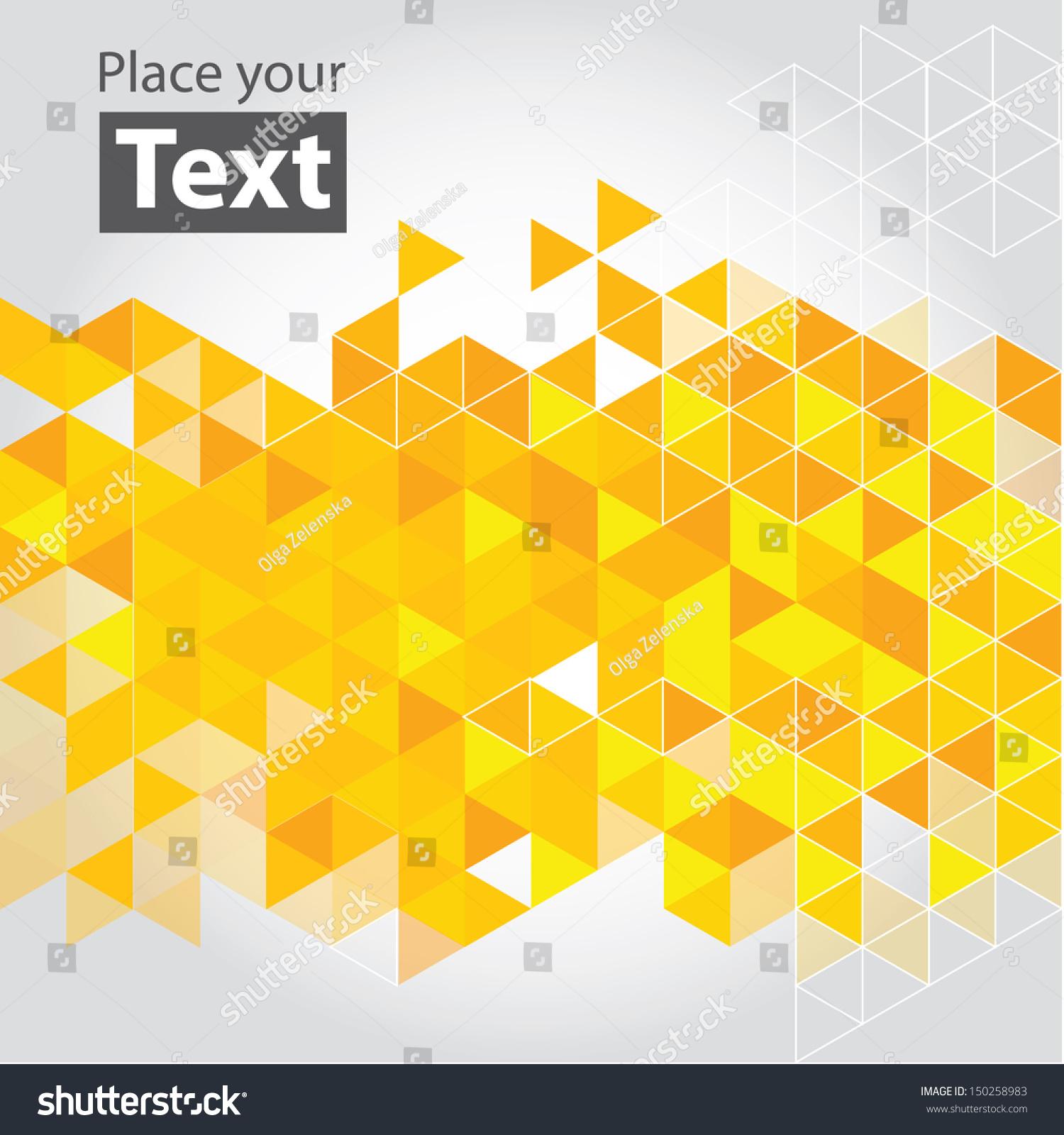 geometric yellow background illustration - photo #5