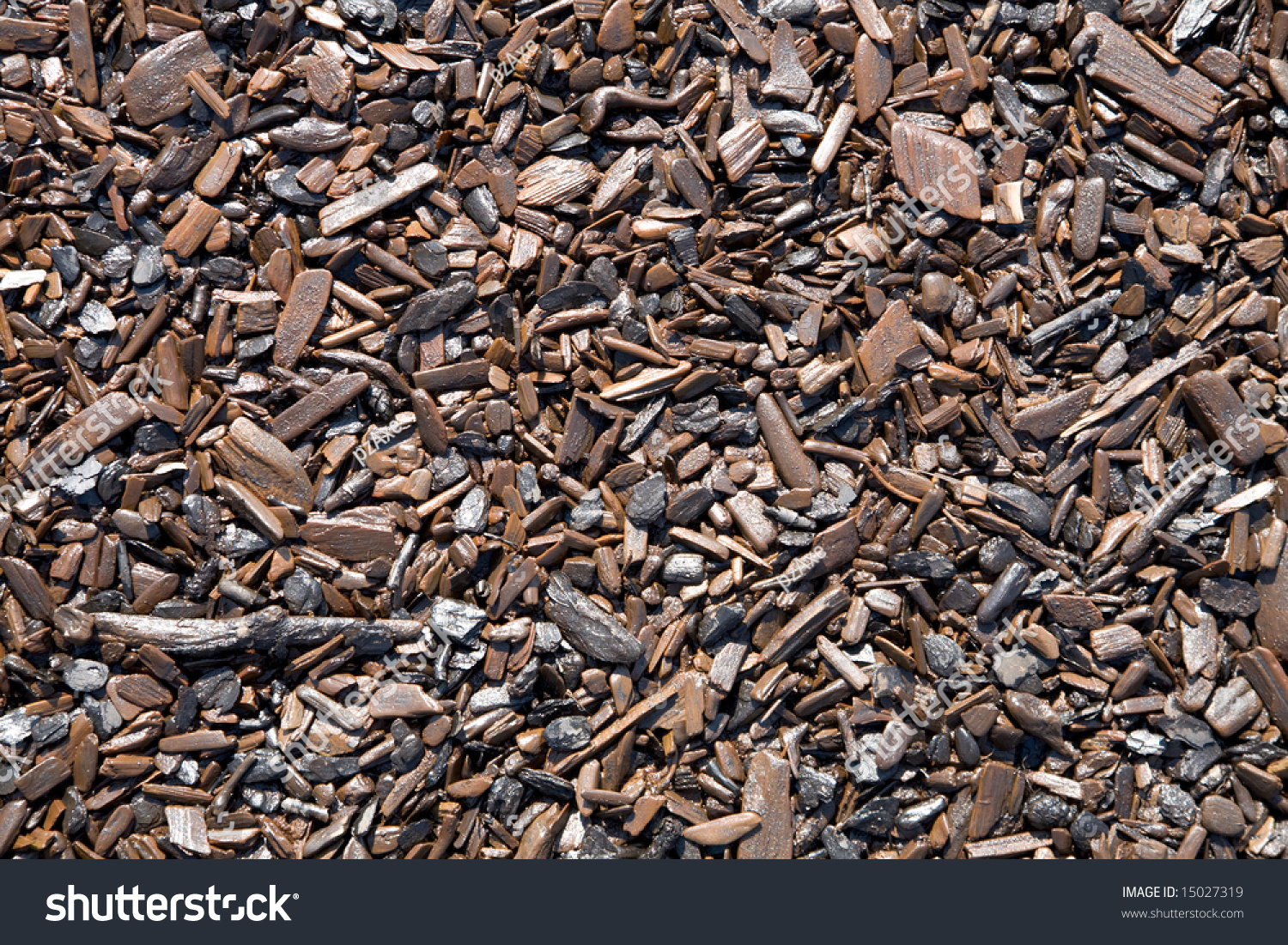 Dirty Wood Chips ~ Pattern formed by rotten chips on stock photo