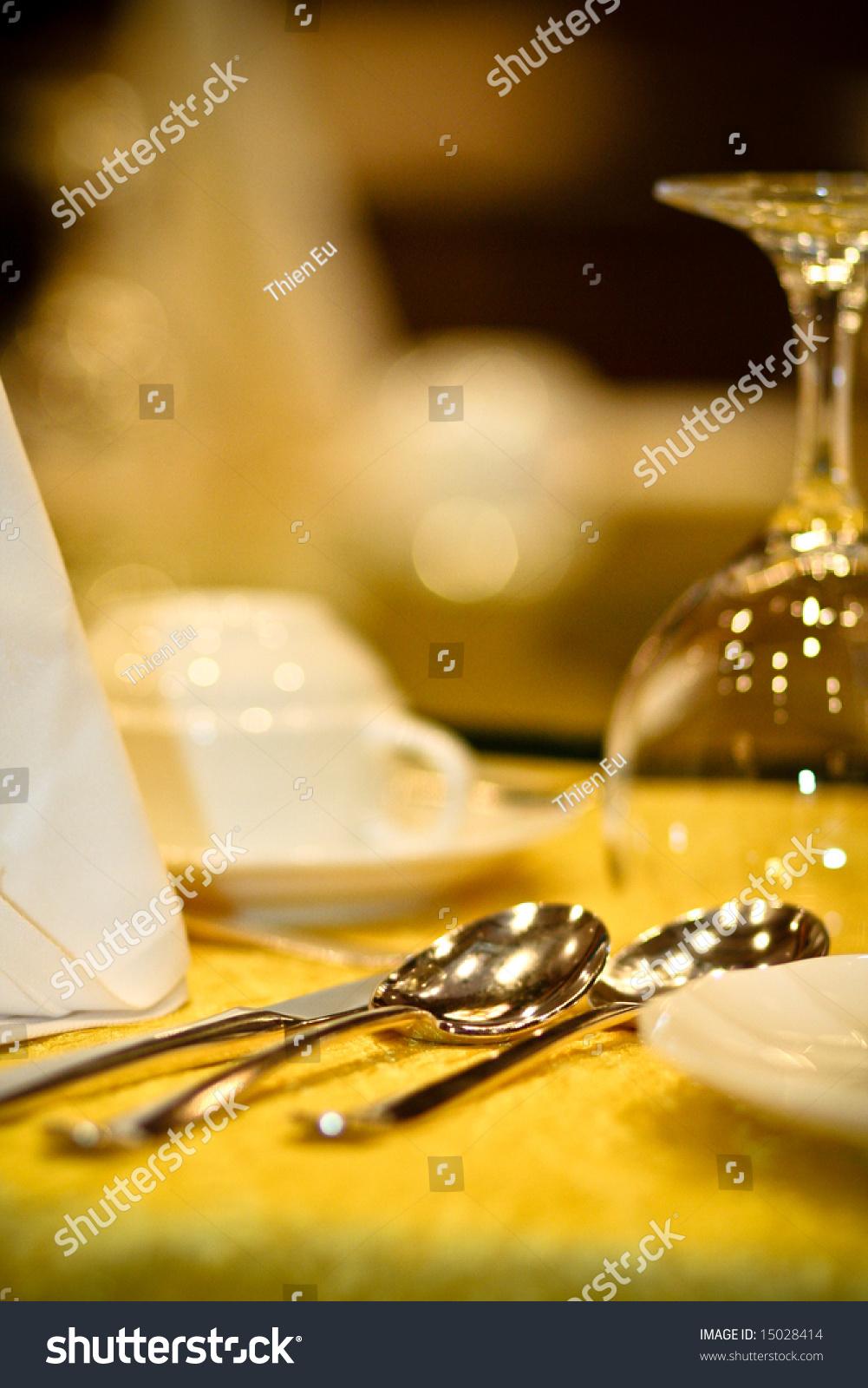 Nice Table Setting Stock Photo 15028414 Shutterstock