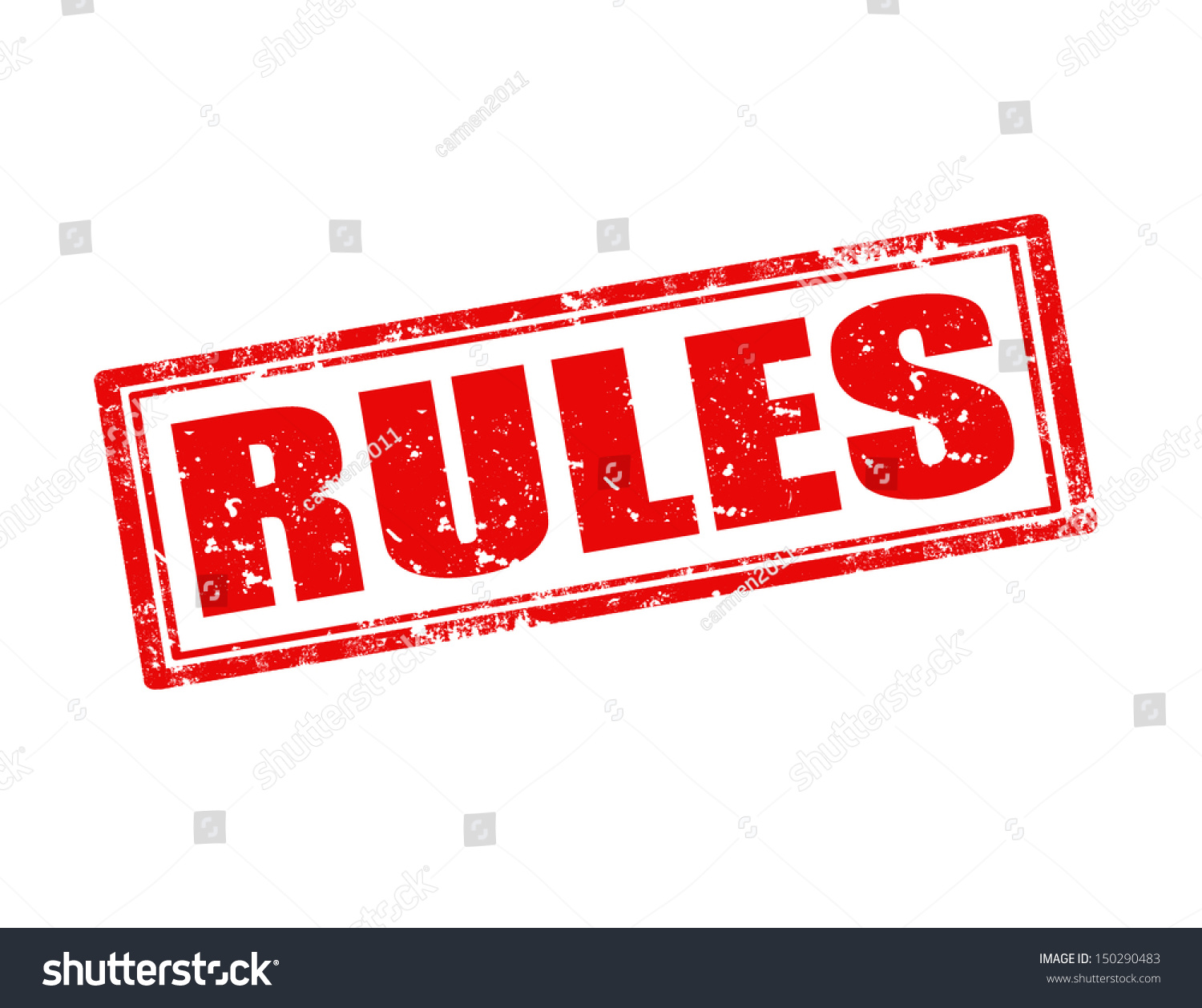 grunge rubber stamp word rules insidevector stock vector 150290483