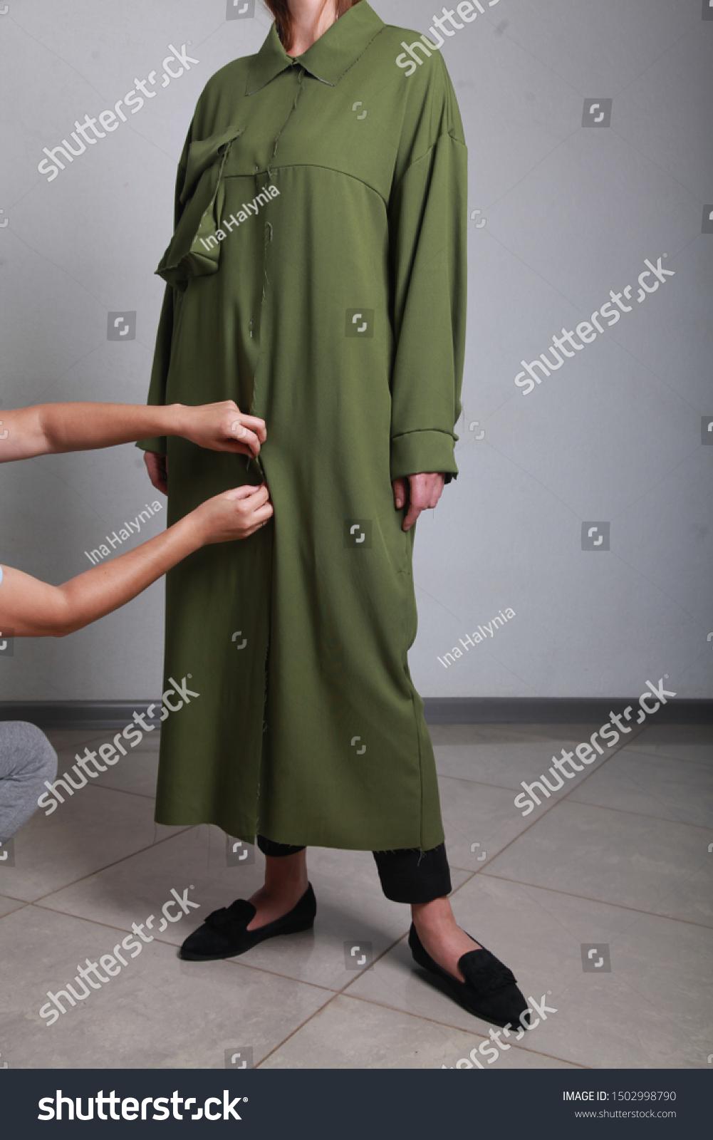 Closeup Female Fashion Designer Girl Hand Stock Photo Edit Now 1502998790