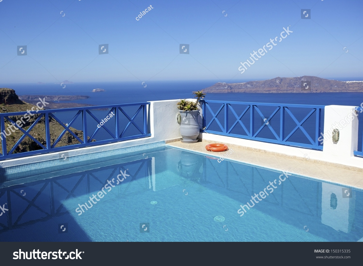Swimming Pool Built On Cliff Overlooking Stock Photo 150315335 Shutterstock