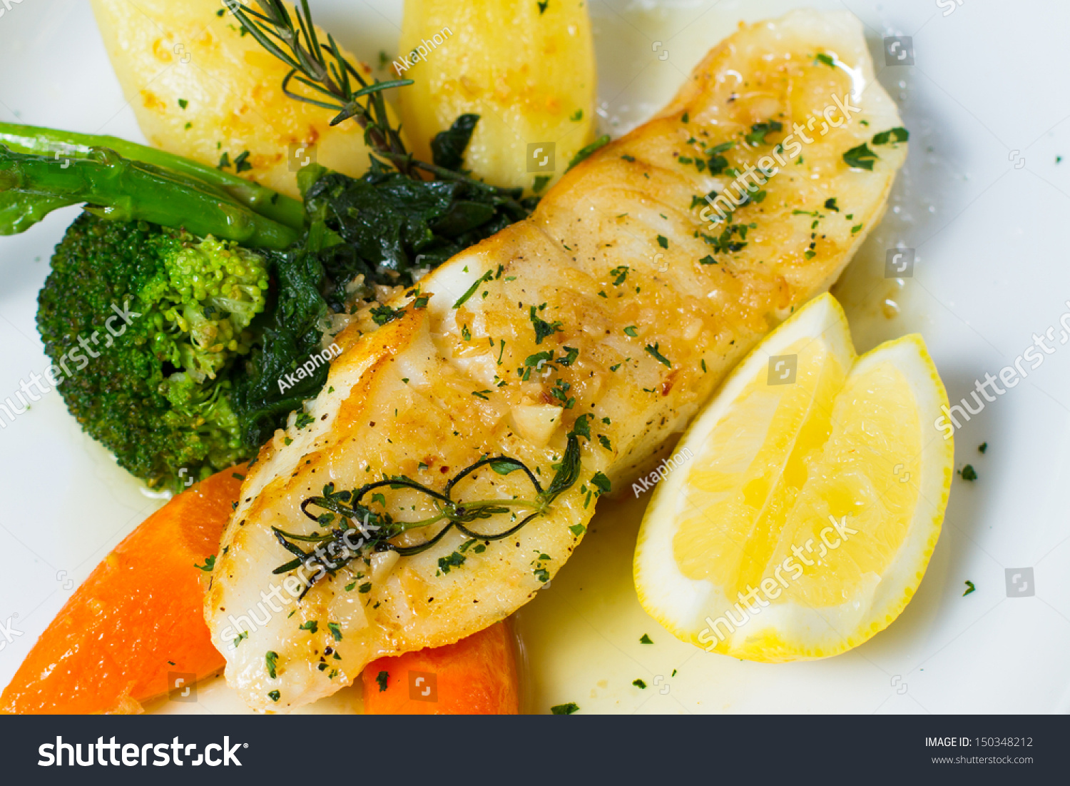 Oven baked antarctic snow fish flushed with a butter for Lemon butter sauce for fish